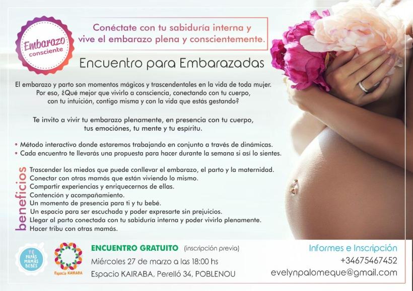 Cartel EMBARAZO CONSCIENTE 27MARZO2019